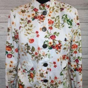 Women's Disney Alice Looking Glass Floral Jacket
